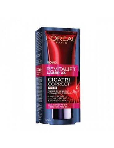 Creme Antirrugas Cicatri-Correct L'Oréal Paris Revitalift Laser X3 - 30ml
